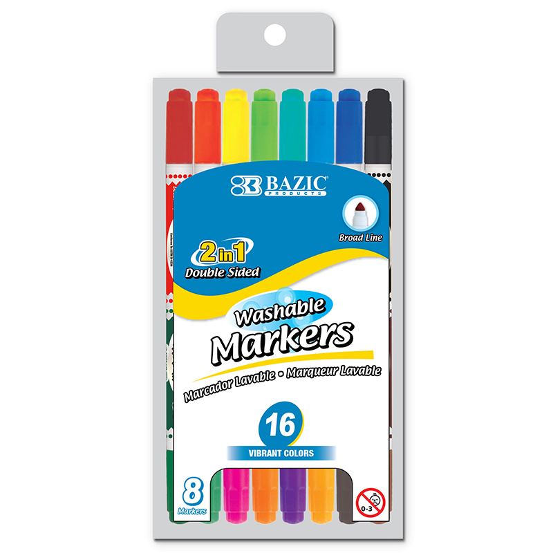 Washable Markers Double Tip 10 Clrs