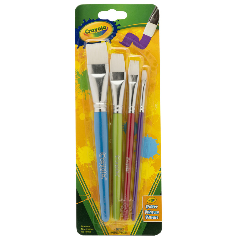 (4 Pk) Crayola Big Paintbrush Setflat 4pk