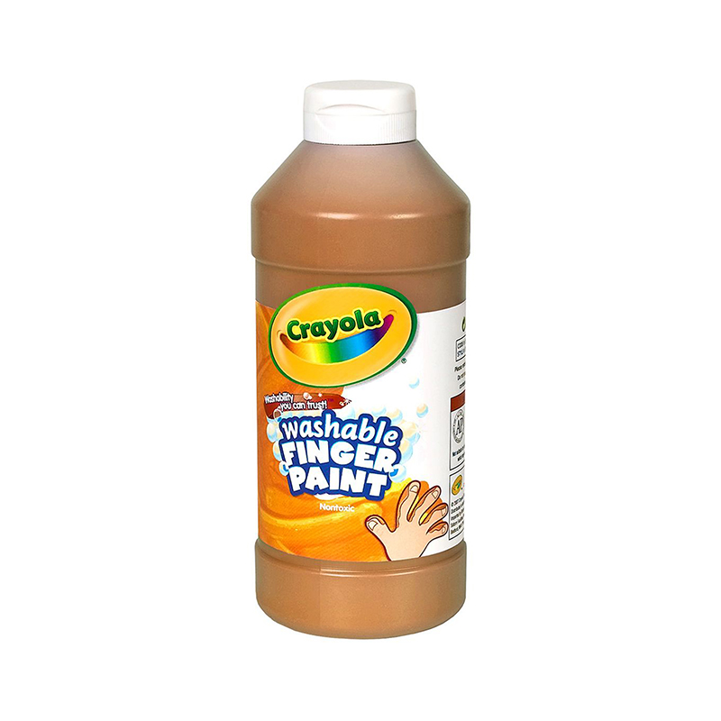 Washable Fingerpaint 16oz Brown
