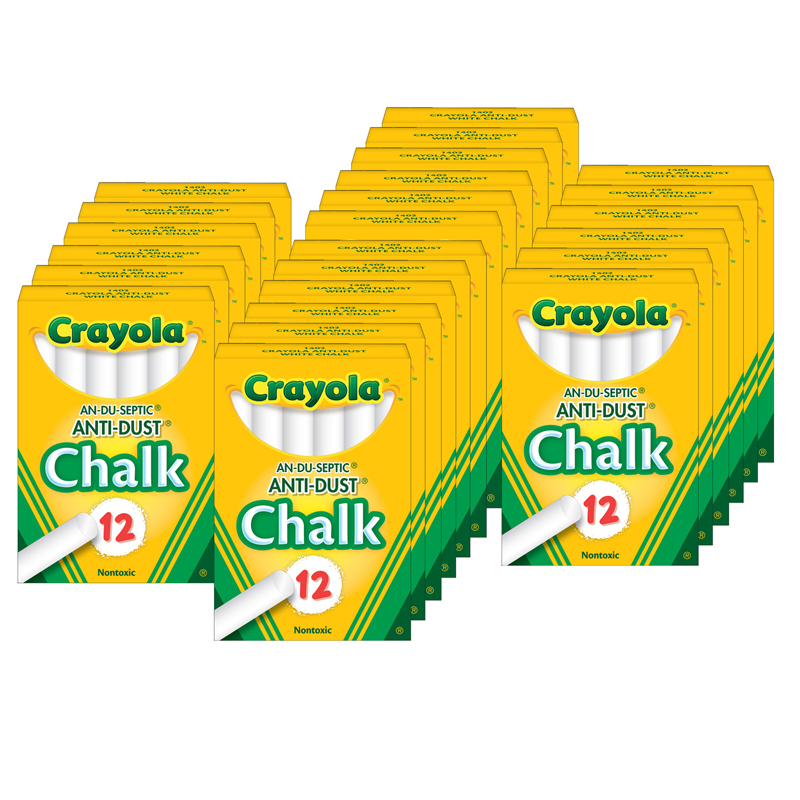 (24 Bx) Chalk Anti-dust White 12ctper Bx