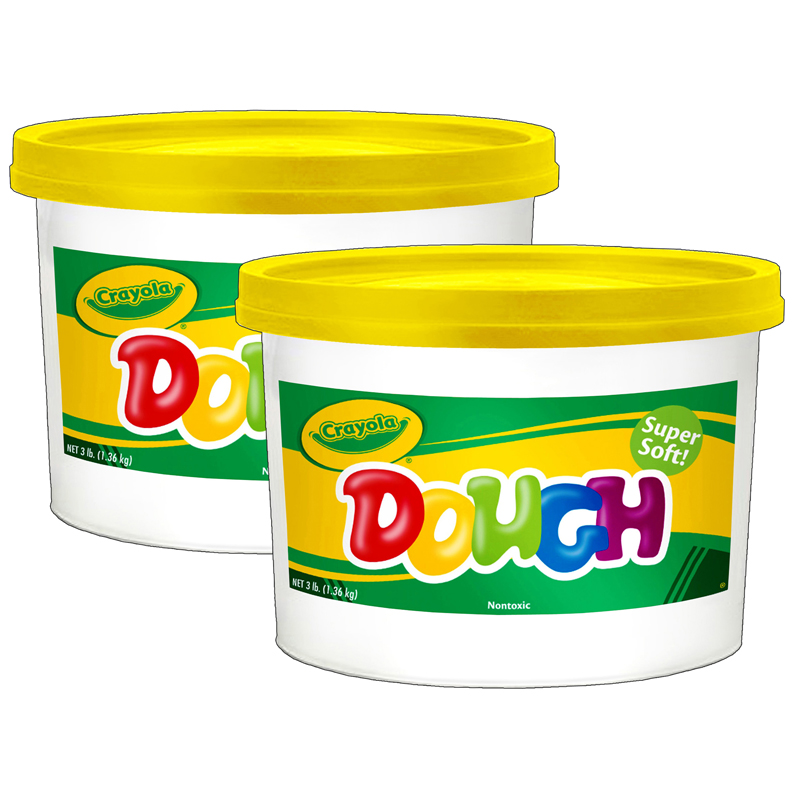 (2 Ea) Modeling Dough 3lb Bucketyellow