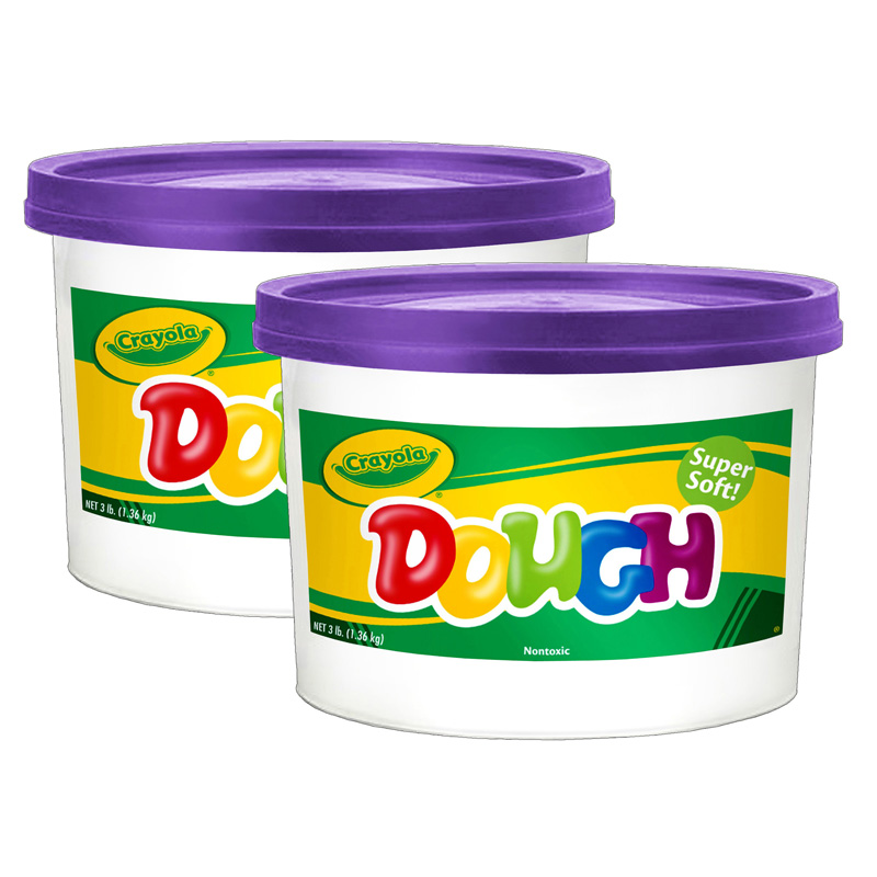 (2 Ea) Modeling Dough 3lb Bucketpurple