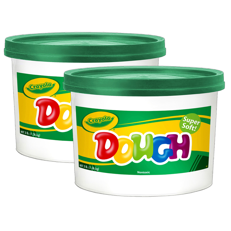 (2 Ea) Modeling Dough 3lb Bucketgreen