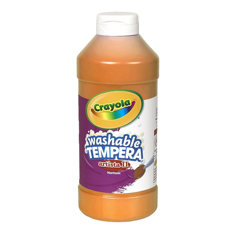 Artista Ii Tempera 16 Oz Orangewashable Paint