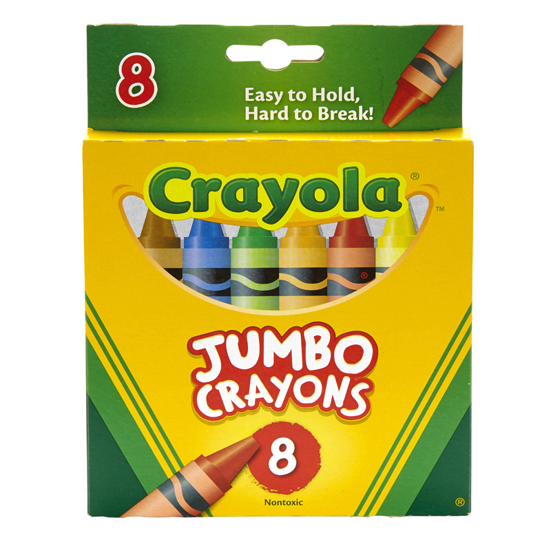 Crayons Jumbo 8ct Peggable Tuck Box