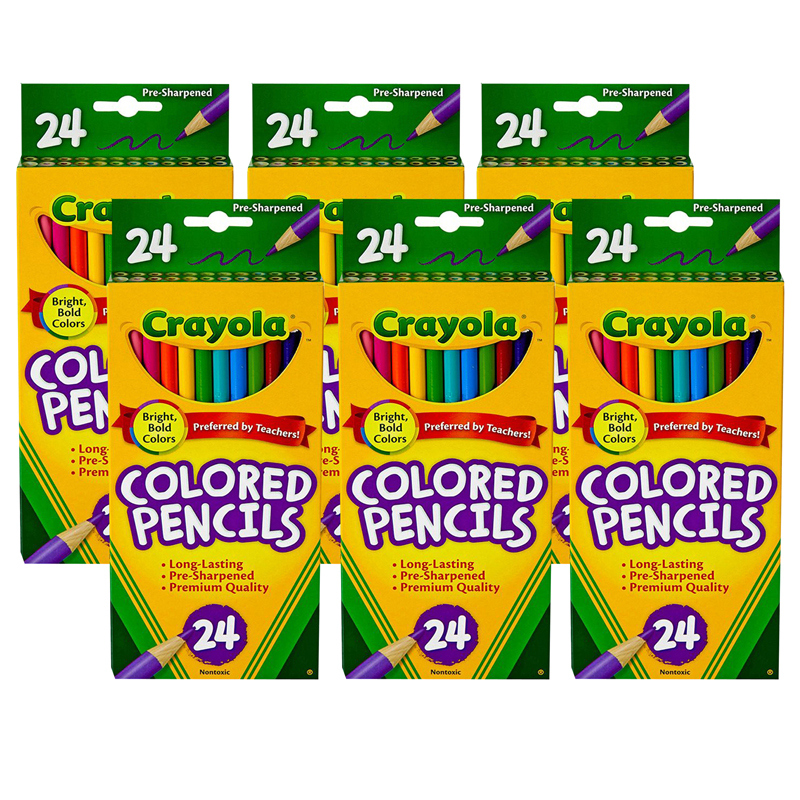 (6 Bx) Crayola Colored Pencils 24ctper Bx Asst