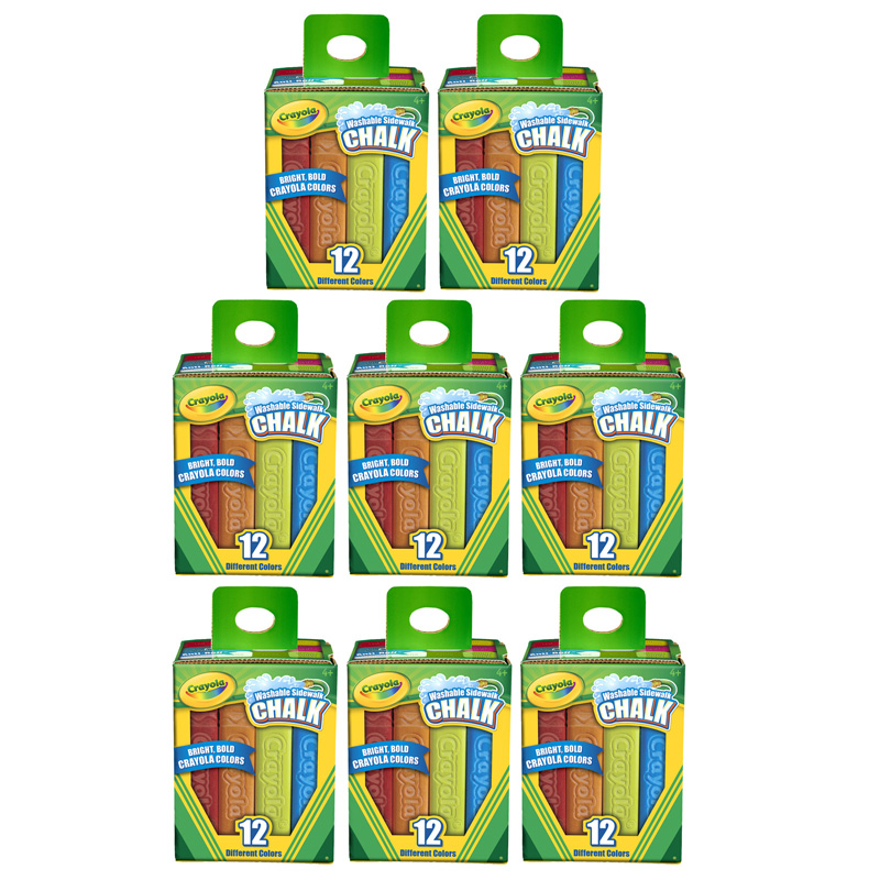 (8 Bx) Crayola Washable Sidewalkchalk 12ct Per Bx
