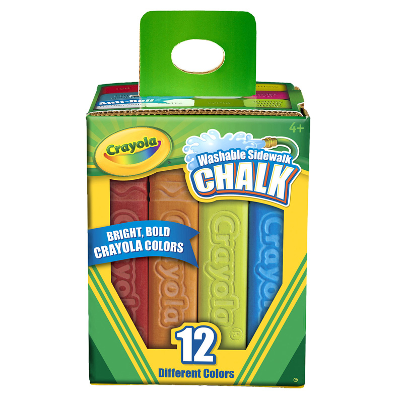 Crayola Washable Sidewalk Chalk 12ct