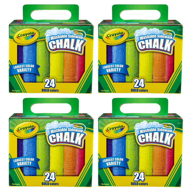 (4 Bx) Crayola Washable Sidewalkchalk 24ct Per Bx