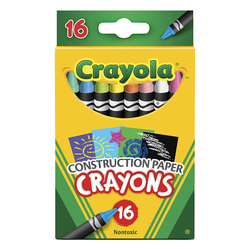 Crayola 16 Ct Crayons Forconstruction Paper