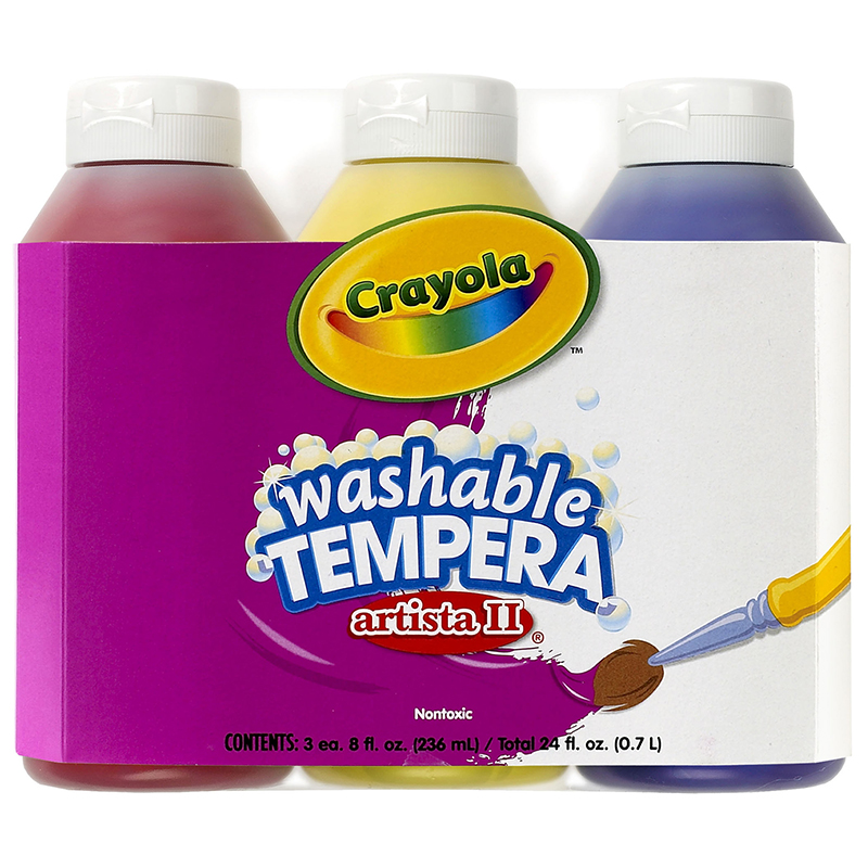 Artista Ii Tempera 3 - 8oz Primarycolor Set Washable Paint