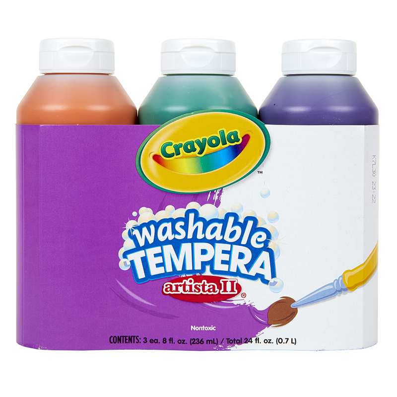 Artista Ii Tempera 3-8oz Secondarycolor Set Washable Paint