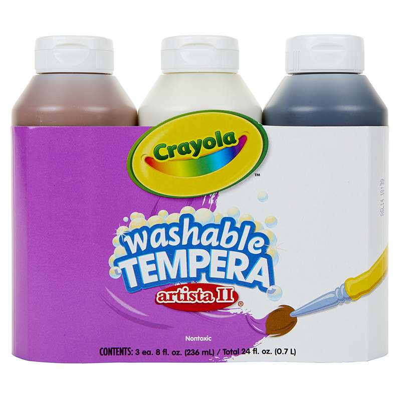 Artista Ii Tempera 3 - 8oz Neutralcolor Set Washable Paint
