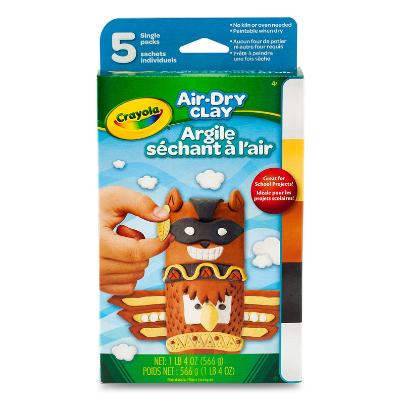 Air Dry Clay 5ct Neutral Variety Pk