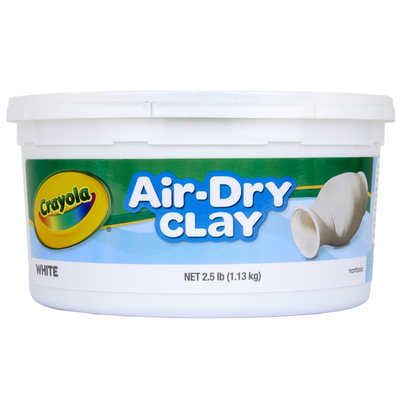 Crayola Air Dry Clay 2.5 Lbs White