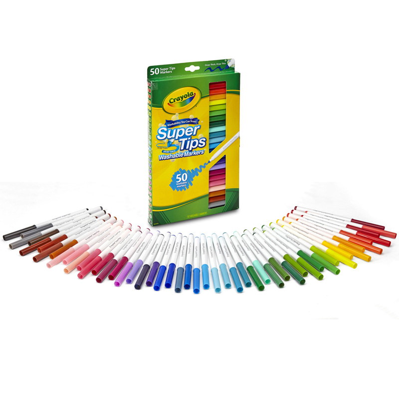 Washable Markers 50ct Super Tips