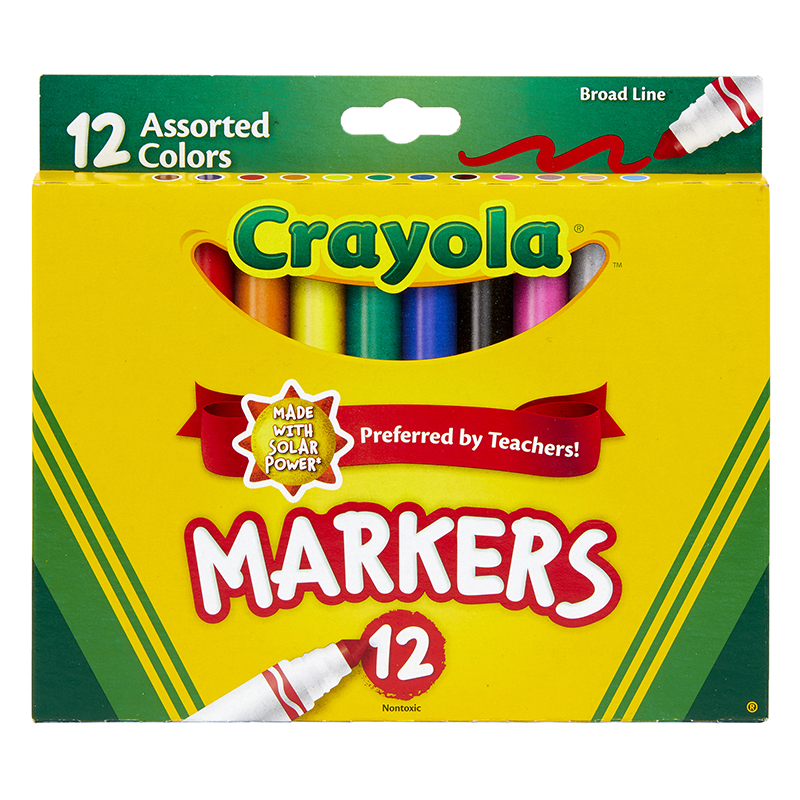 Crayola Markers 12ct Asst Colorsconical Tip