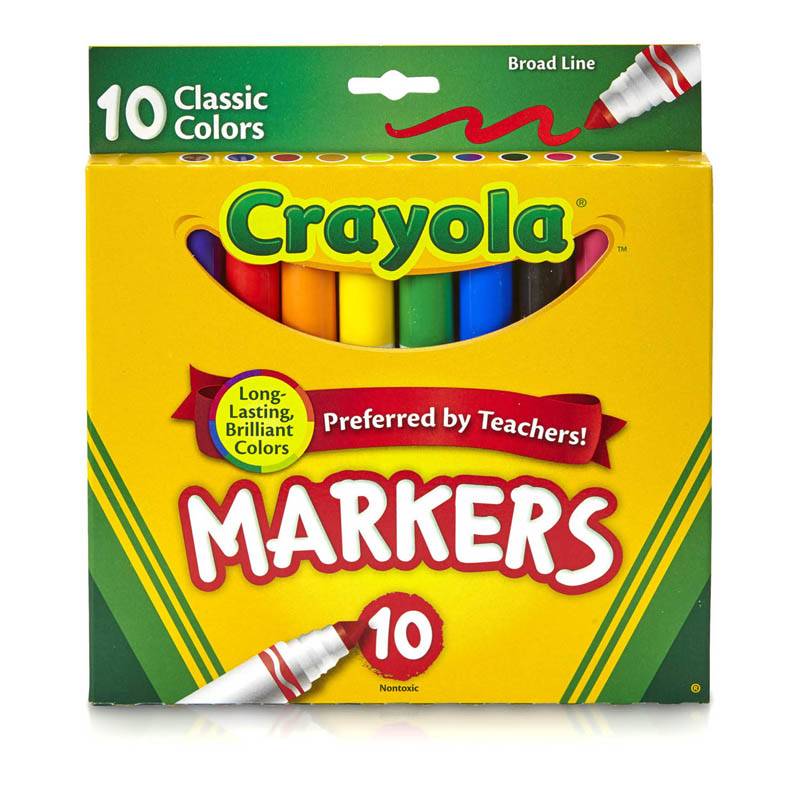 Crayola Broad Line Markers 10ctclassic Colors