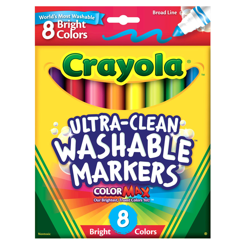 Crayola Washable 8ct Bright Colorsconical Tip