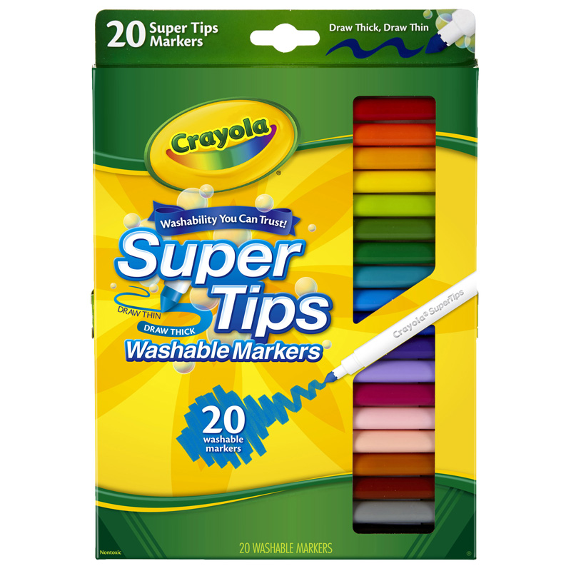 Washable Markers 20ct Super Tipsw/silly Scents