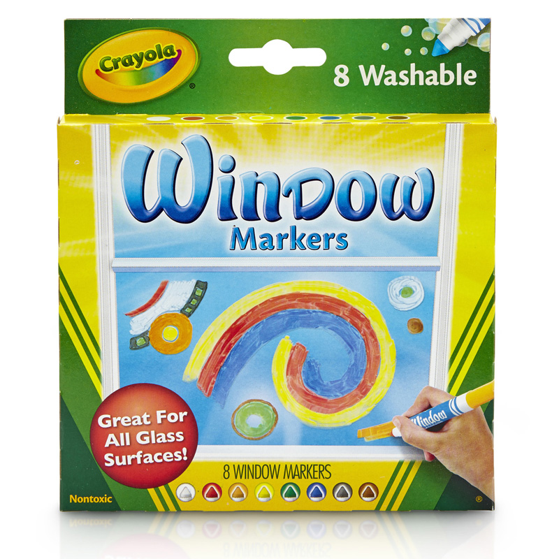 Crayola 8ct Washable Window Markers