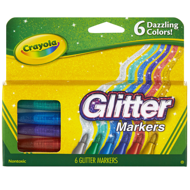 Crayola Glitter Markers 6 Colors
