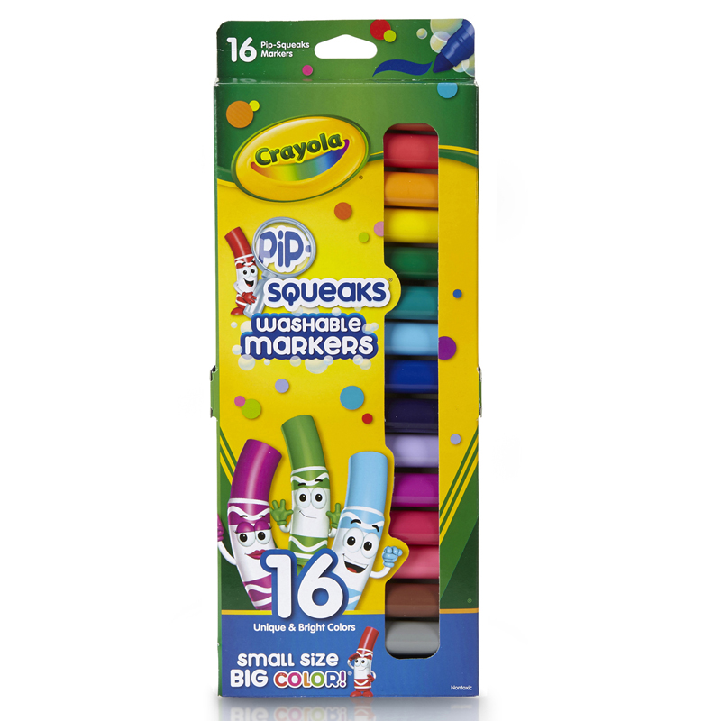 Pip Squeaks Markers 16 Ct Shortwashable In Peggable Pouch