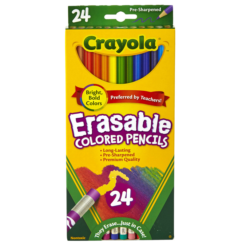 24 Ct Erasable Colored Pencils