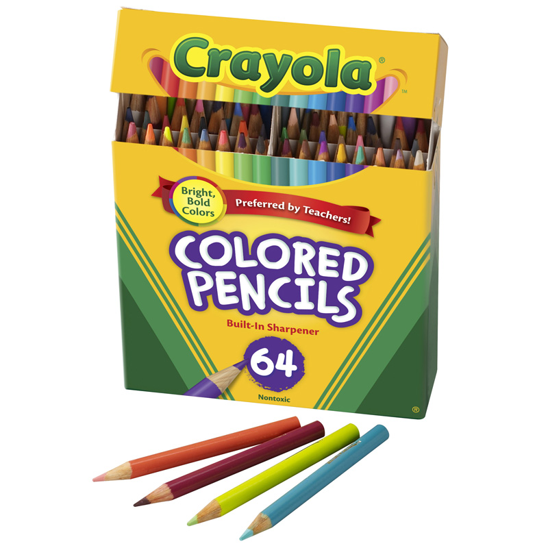 Crayola Colored Pencils 64 Counthalf Length