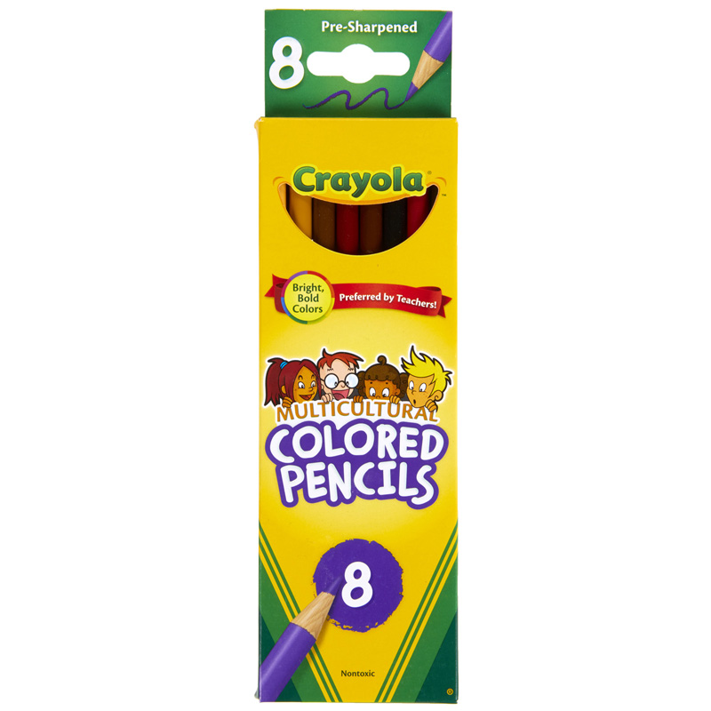 Crayola Multicultural 8 Ct Coloredpencils