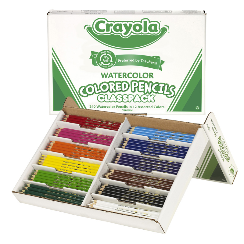Crayola Watercolor Pencil 240 Ctclasspack