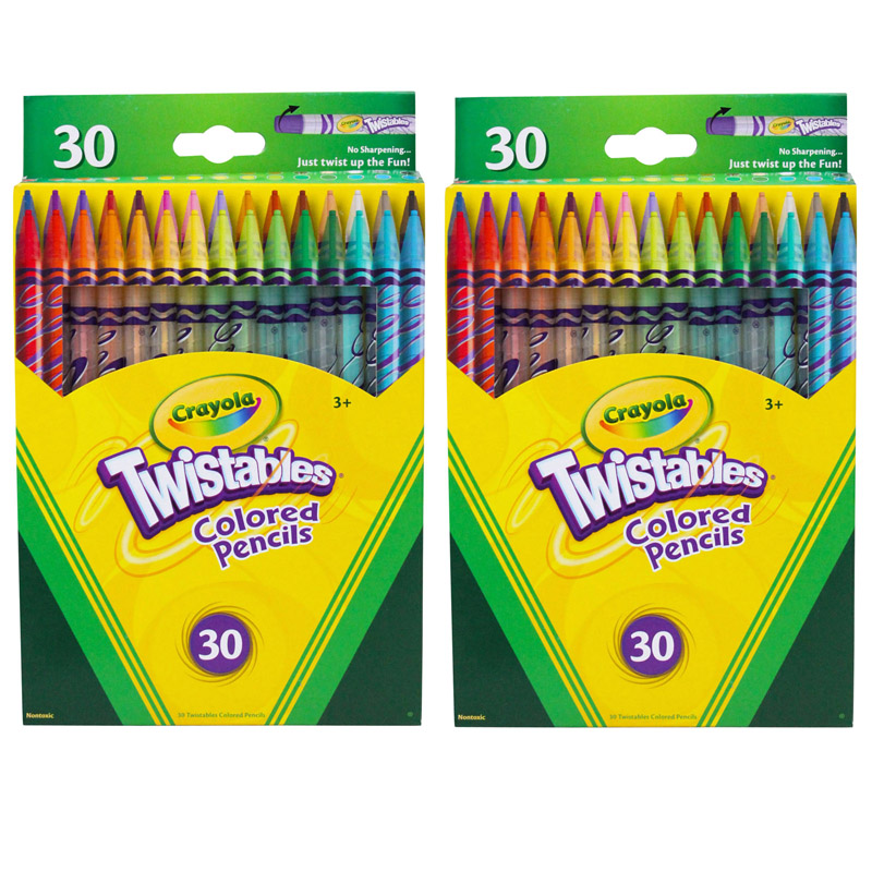 (2 Bx) Crayola Twistables 30ct Perbx Colored Pencils
