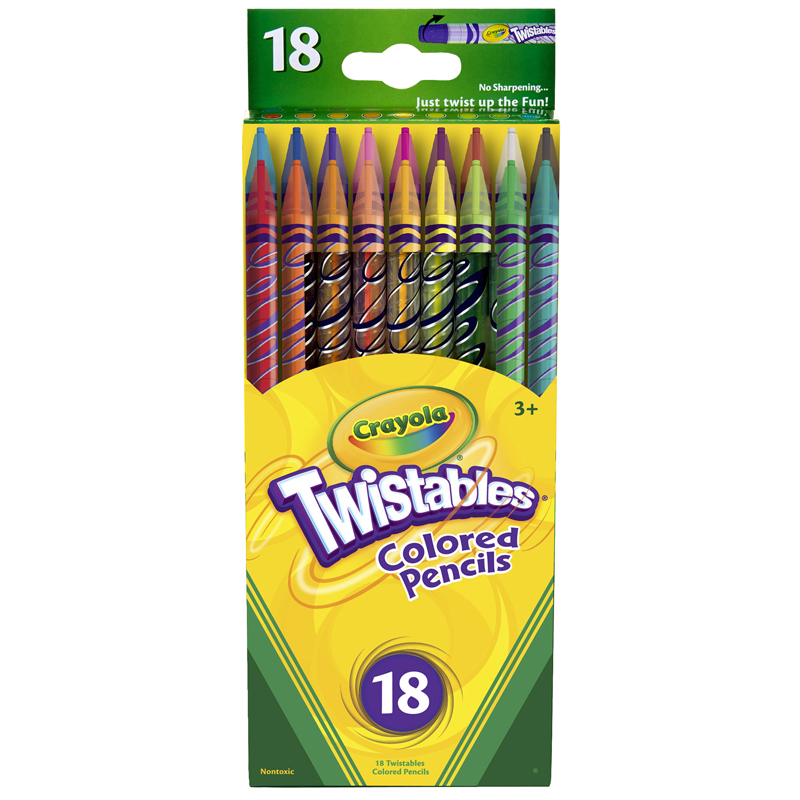 Crayola Twistables 18 Ct Coloredpencils