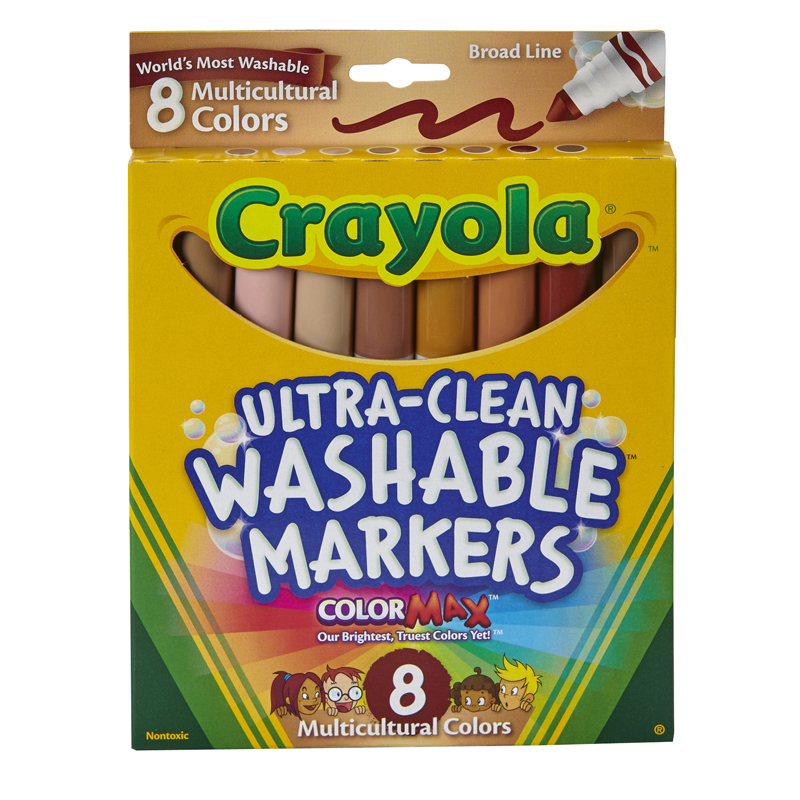 Multicultural Washable Markers 8pkconical Tip