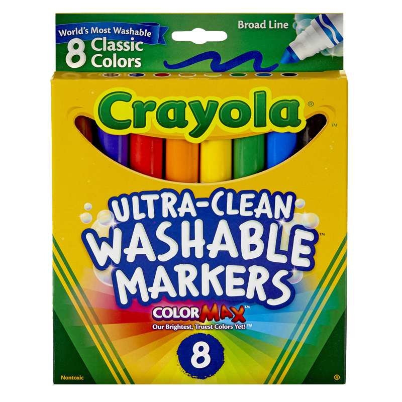 Washable Coloring Markers 8 Colors