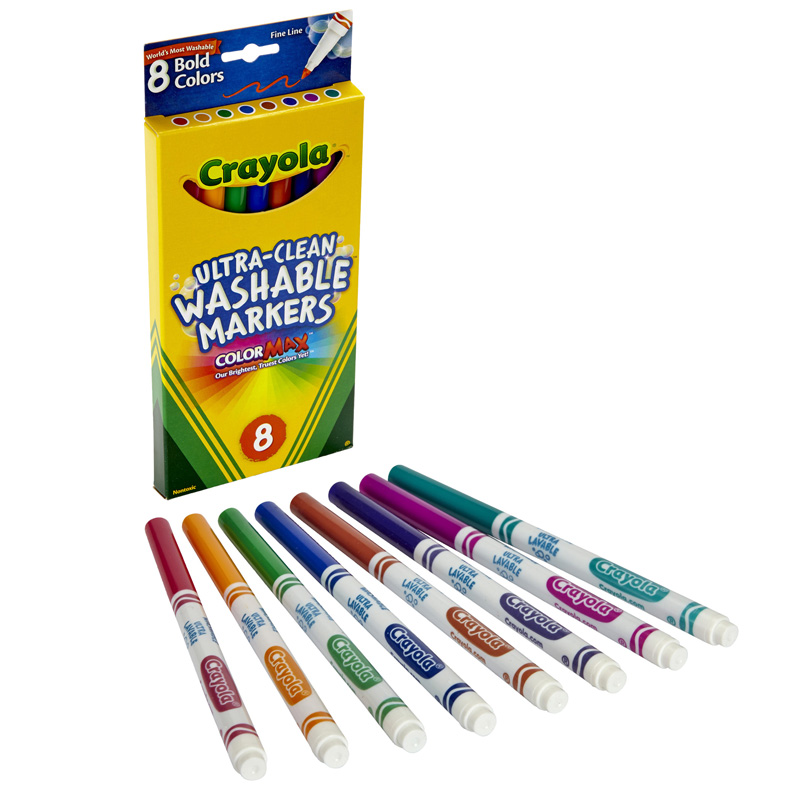 Washable Markers 8ct Bold Colorsfine Tip