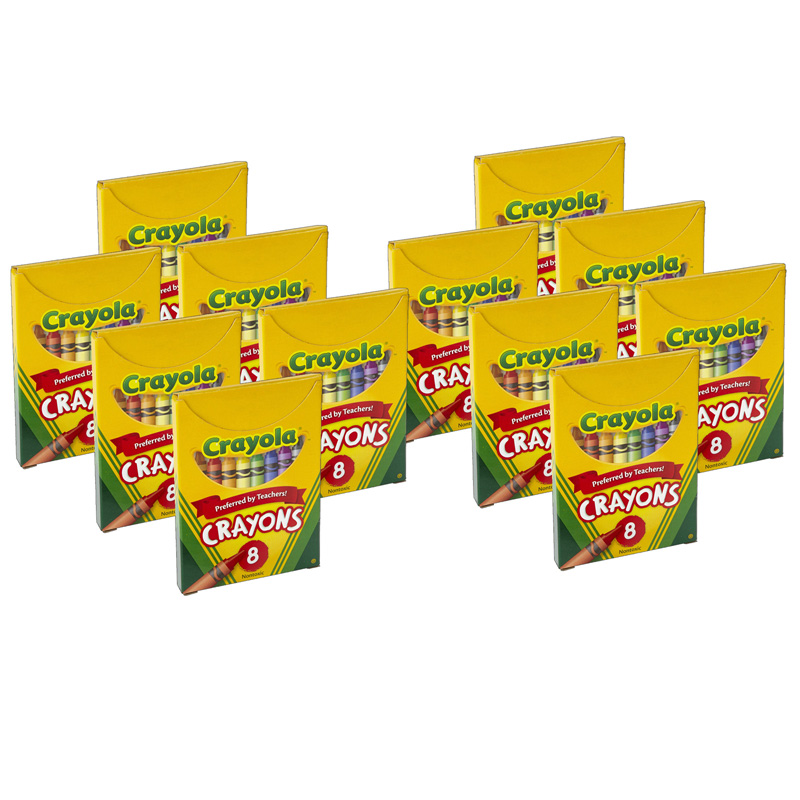 (12 Bx) Crayola Large Size Tuck Box8ct Per Bx
