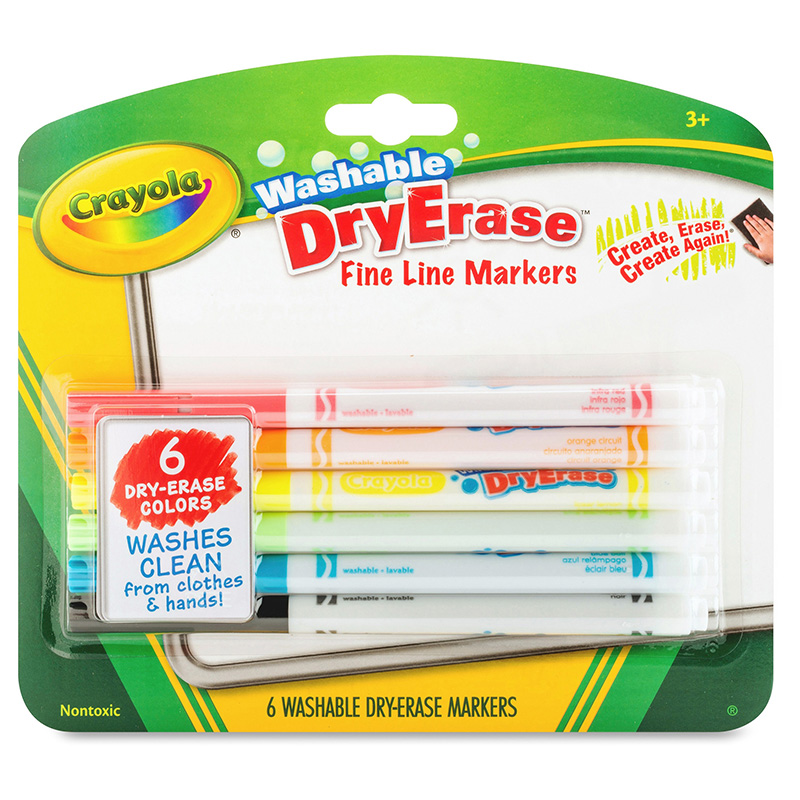 Crayola 6 Color Washable Dry Erasemarkers