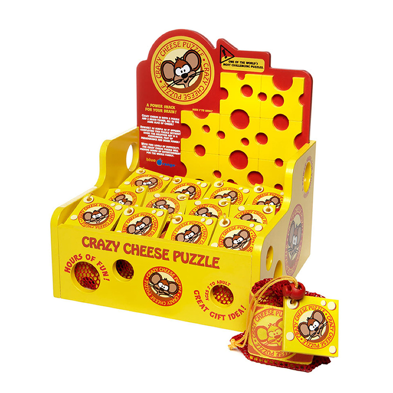 Rack Pop Crazy Cheese Display With12 Games