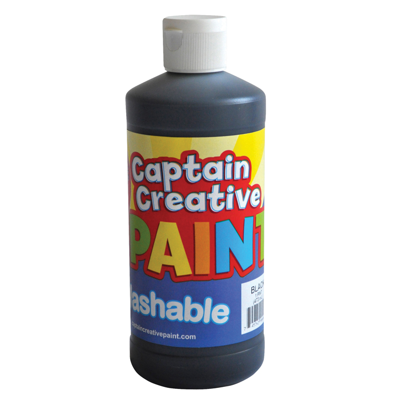 Black 16oz Washable Paint Captaincreative