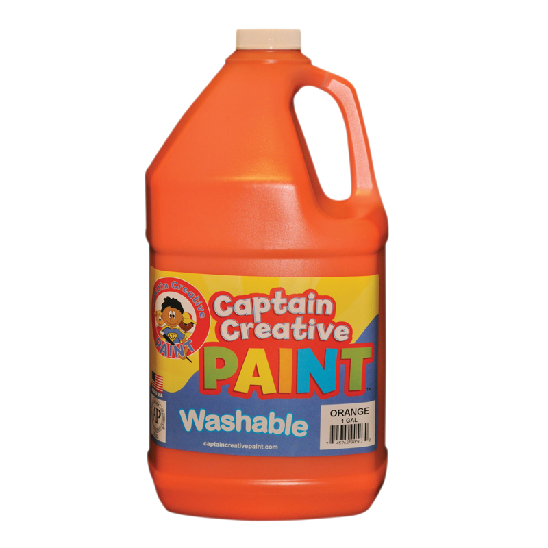 Orange Gallon Washable Paint Bycaptain Creative