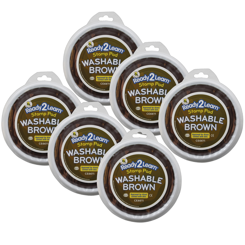 (6 Ea) Jumbo Circular Washable Padsbrown