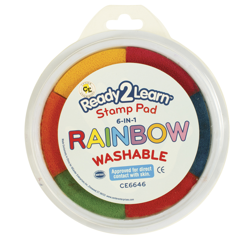 Jumbo Circular Washable 6-in-1 Padsrainbow Yel Red Org Blk Blu & Pnk