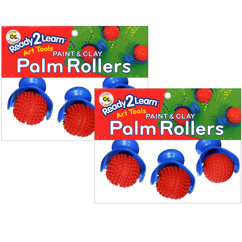 (2 St) Ready2learn Palm Doughrollers 3 Per Set