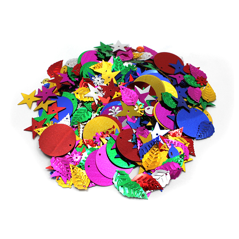 Glittering Sequins W Spangles 4ozresealable Bag