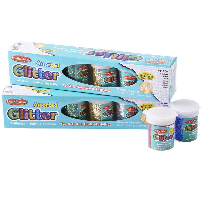 Glitter Set 12 Pk Asst Colors .75oz