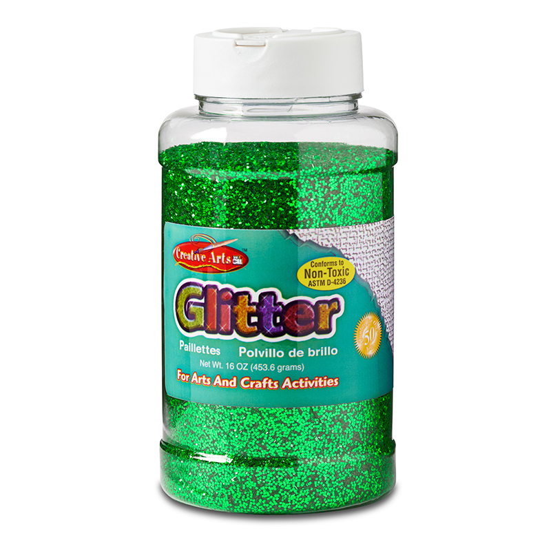 Glitter 16 Oz Bottle Green