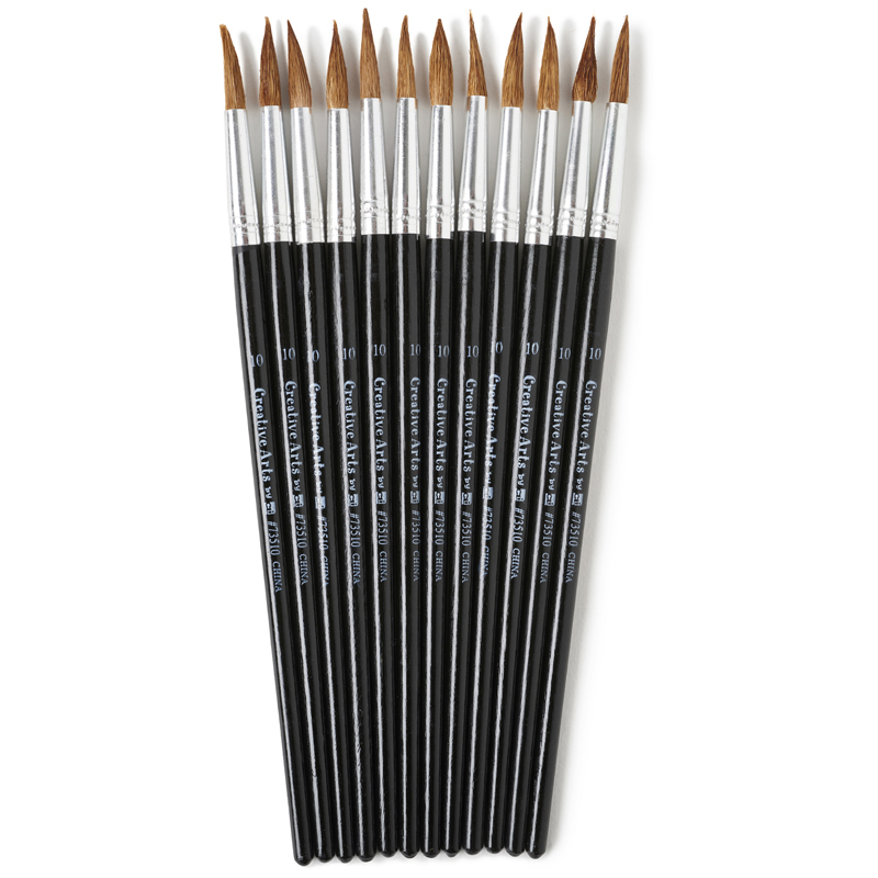 Brushes Water Color Pointed #1015/16 Camel Hair 12 Ct