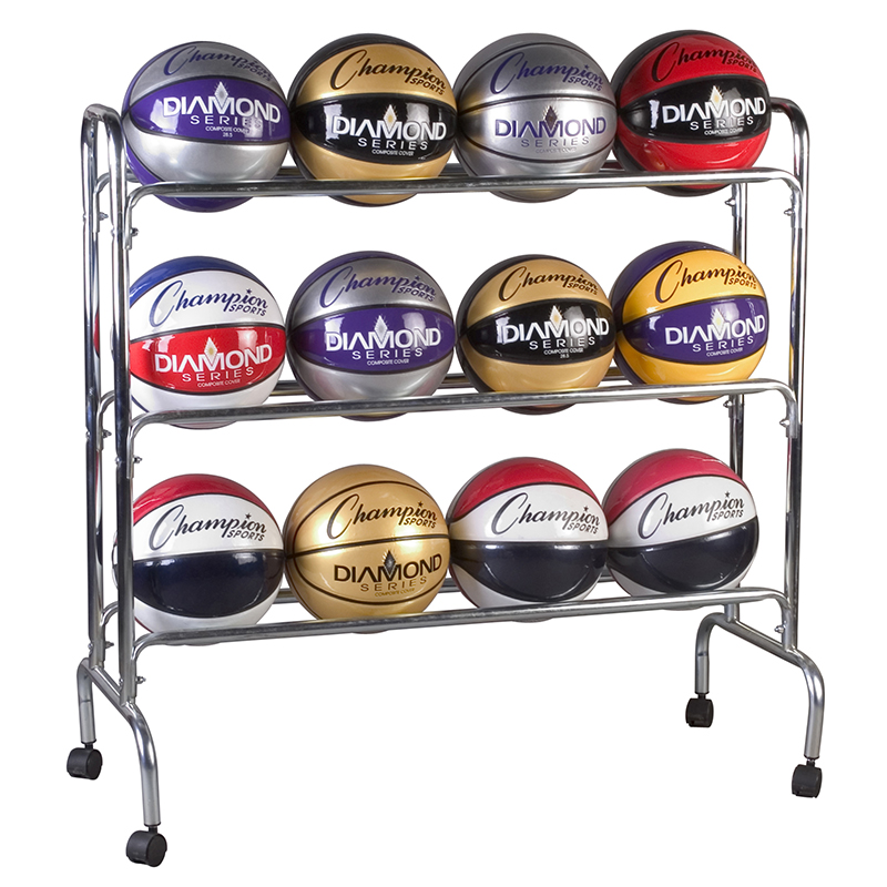Portable Ball Rack 3 Tier Holds 12balls