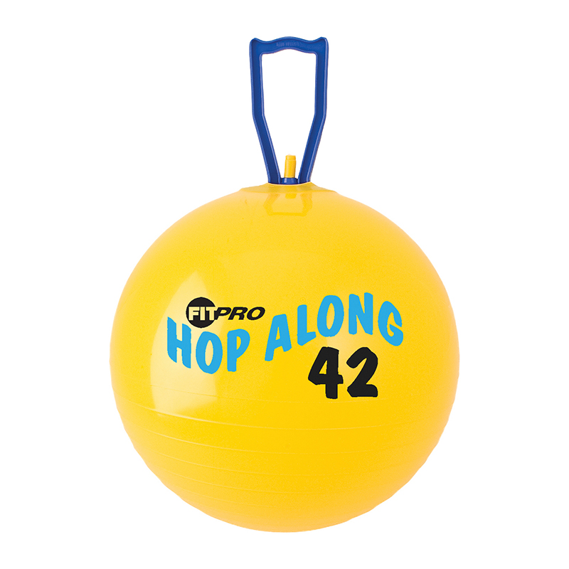 Fitpro 16.5in Hop Along Pon Ponball Yellow Junior